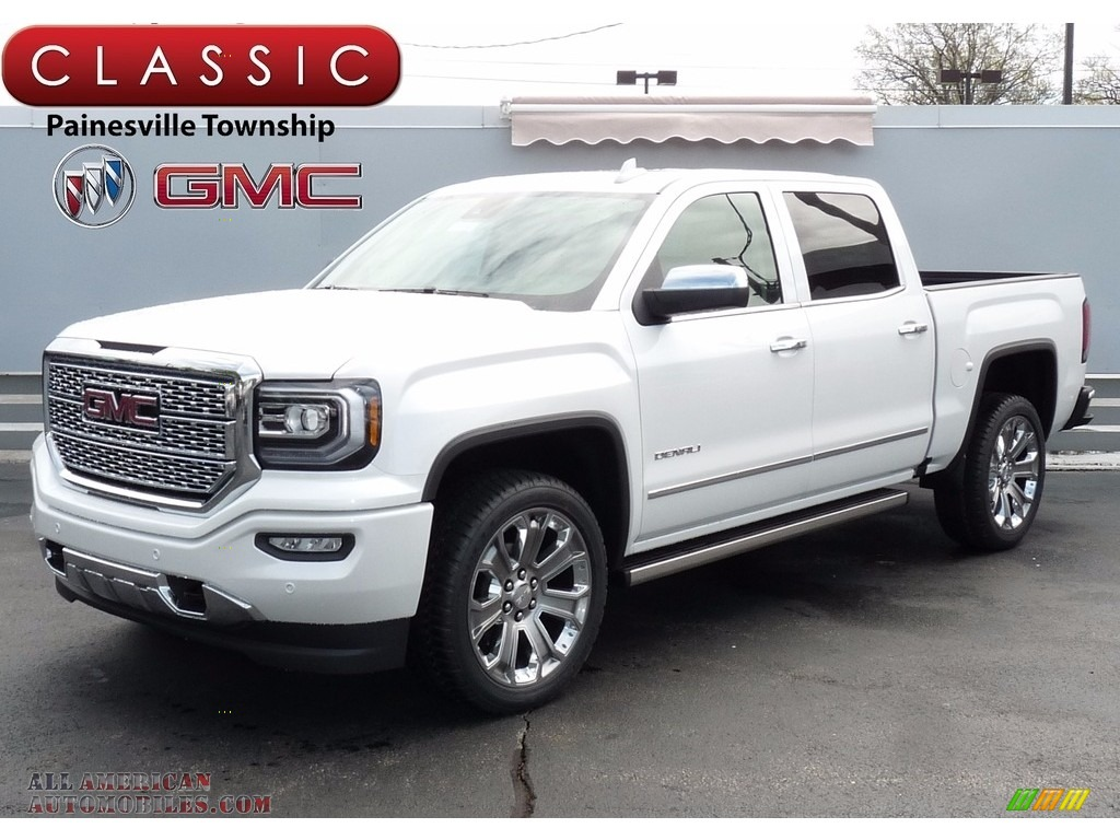 2017 gmc sierra 1500 denali crew cab 4wd in white frost tricoat 408148 all american. Black Bedroom Furniture Sets. Home Design Ideas