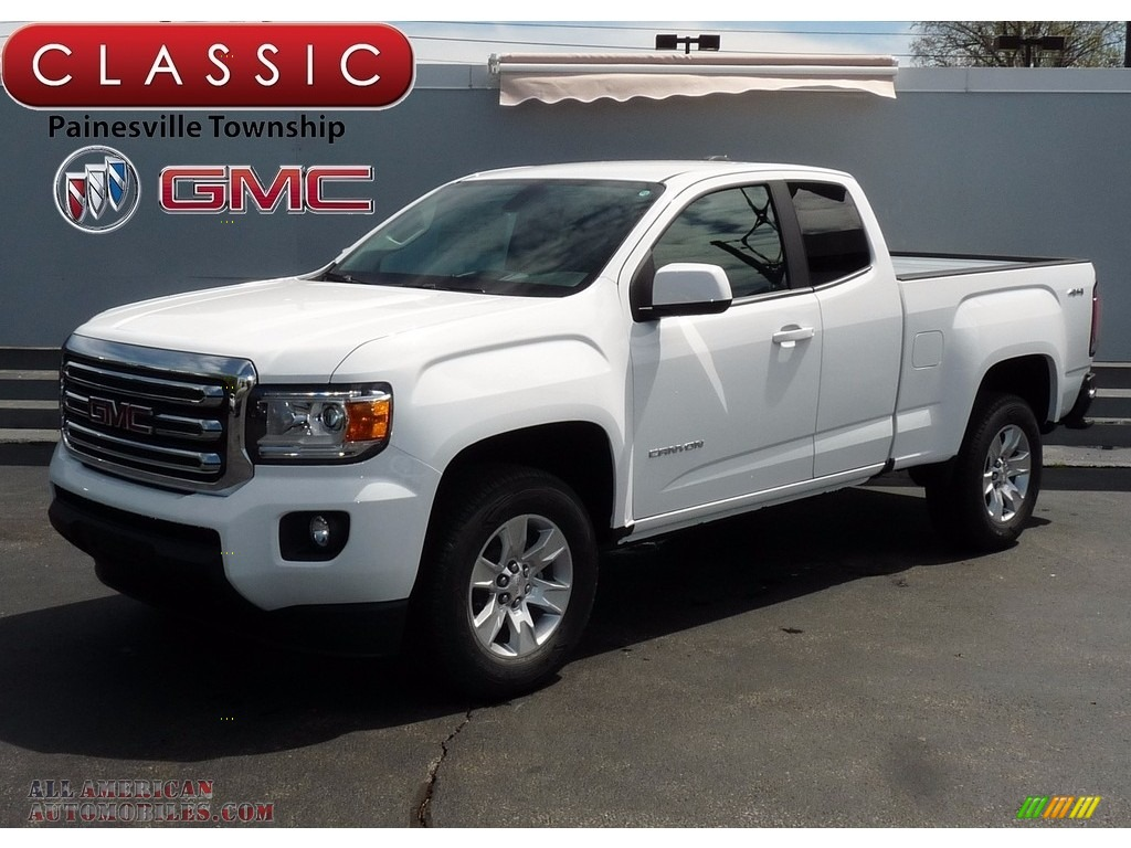 2017 gmc canyon sle extended cab 4x4 in summit white for sale 251446 all american. Black Bedroom Furniture Sets. Home Design Ideas