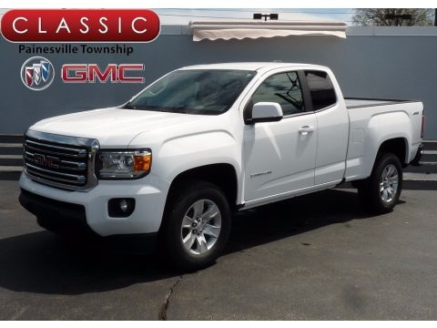 Summit White 2017 GMC Canyon SLE Extended Cab 4x4