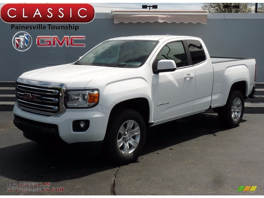 2017 gmc canyon sle extended cab in summit white 252103. Black Bedroom Furniture Sets. Home Design Ideas