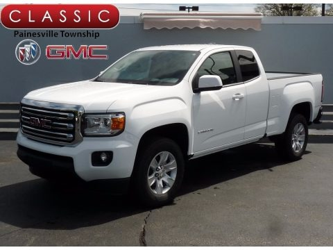 Summit White 2017 GMC Canyon SLE Extended Cab