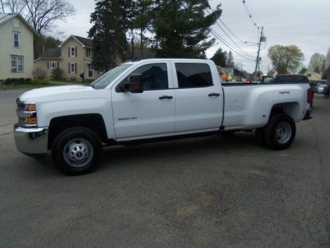 Summit White 2017 Chevrolet Silverado 3500HD Work Truck Crew Cab Dual Rear Wheel 4x4