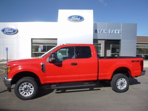 Race Red 2017 Ford F250 Super Duty XLT SuperCab 4x4