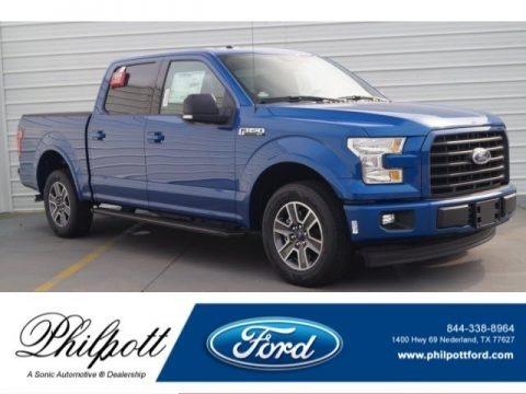 Lightning Blue 2017 Ford F150 XLT SuperCrew