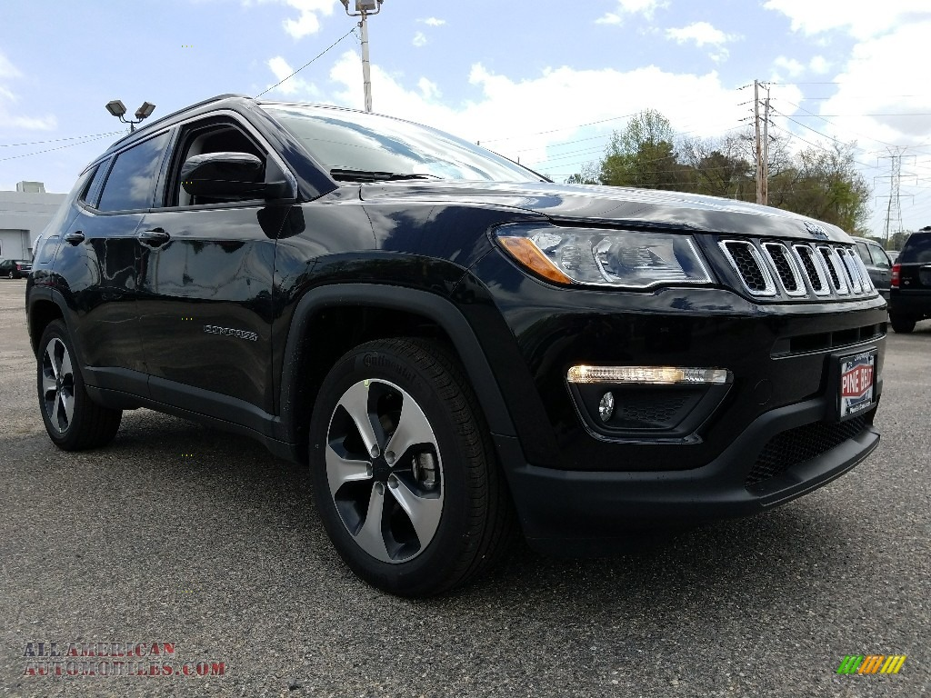 2017 jeep compass latitude 4x4 in black 627565 all american automobiles buy american cars. Black Bedroom Furniture Sets. Home Design Ideas