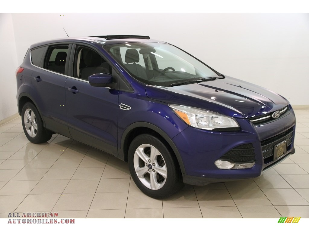2014 ford escape se 1 6l ecoboost 4wd in deep impact blue e22941 all american automobiles. Black Bedroom Furniture Sets. Home Design Ideas
