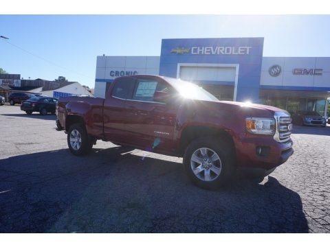 Red Quartz Tintcoat 2017 GMC Canyon SLE Extended Cab