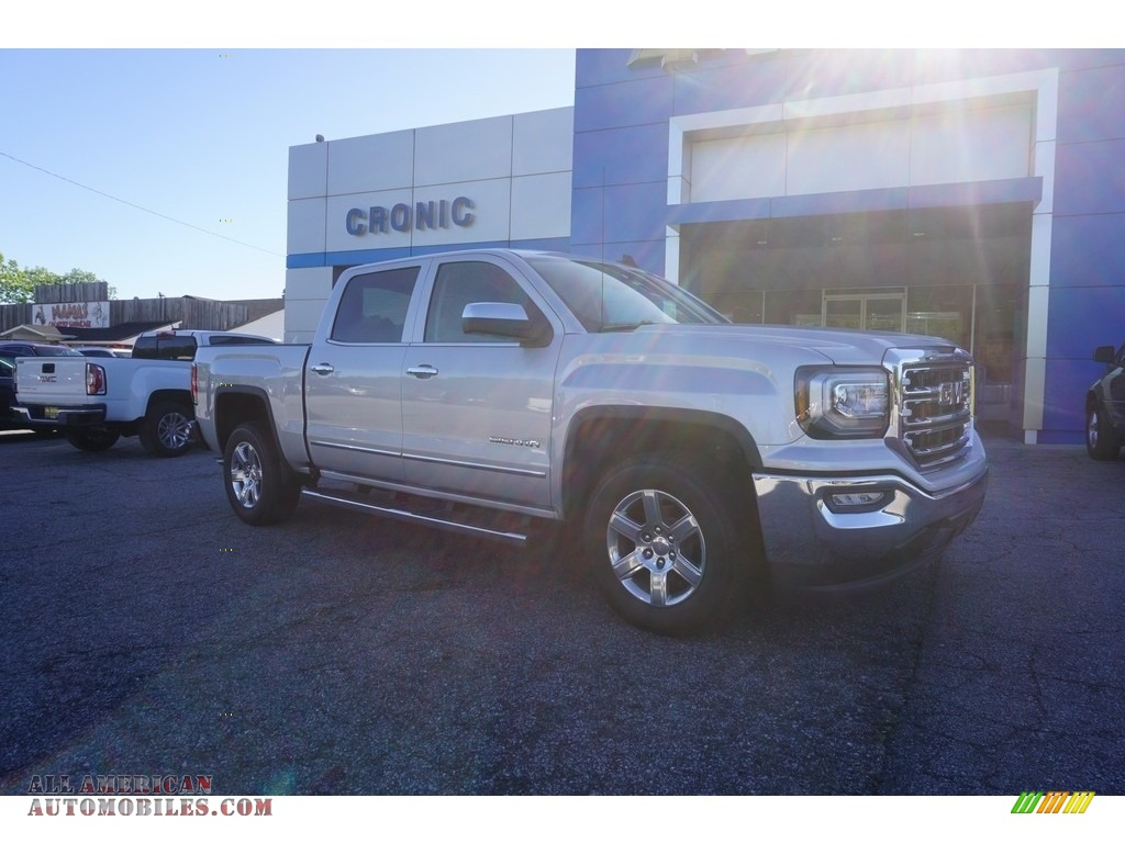 2017 gmc sierra 1500 slt crew cab in quicksilver metallic 405108 all american automobiles. Black Bedroom Furniture Sets. Home Design Ideas