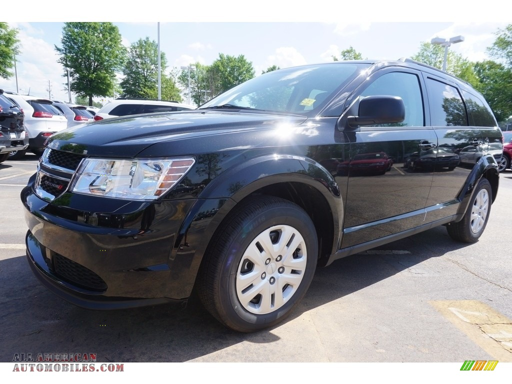 2017 dodge journey se in pitch black 638437 all american automobiles buy american cars for. Black Bedroom Furniture Sets. Home Design Ideas