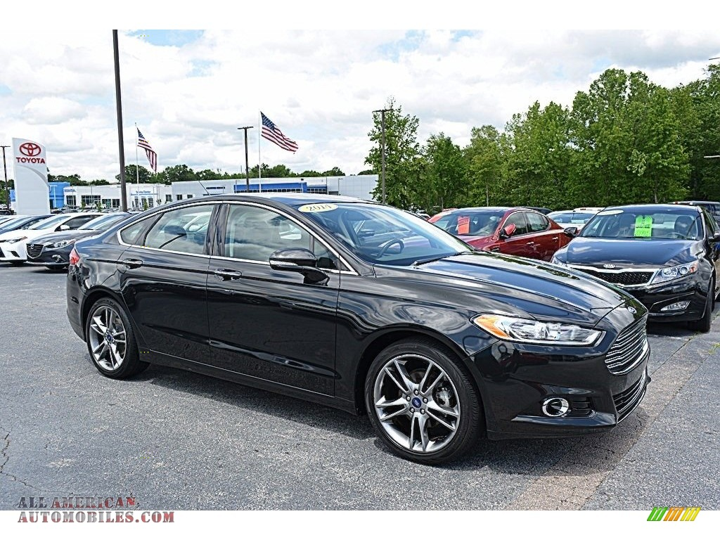 2014 ford fusion titanium in tuxedo black 281861 all american automobiles buy american. Black Bedroom Furniture Sets. Home Design Ideas