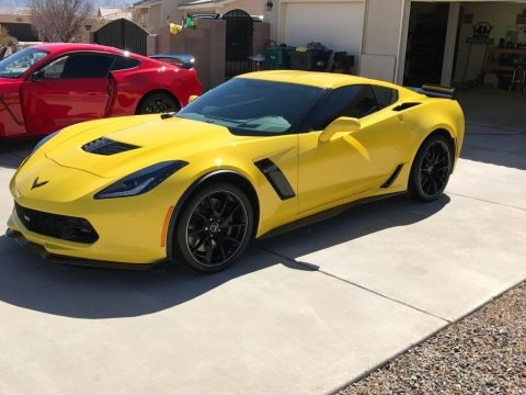 Corvette Racing Yellow Tintcoat 2016 Chevrolet Corvette Z06 Coupe