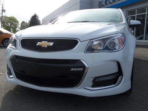 Heron White 2017 Chevrolet SS Sedan
