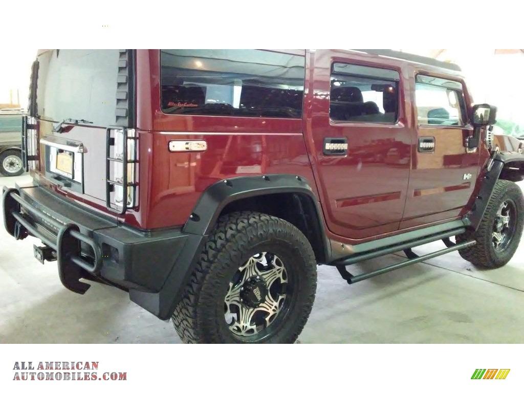 2004 H2 SUV - Red Metallic / Wheat photo #5