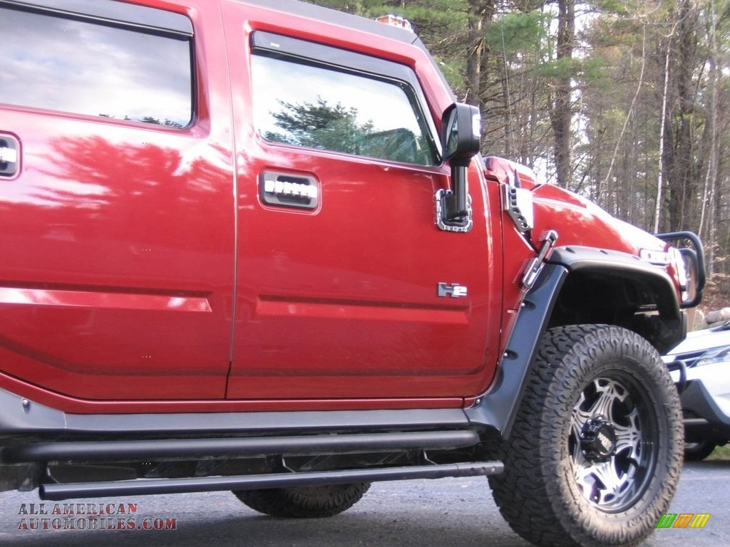 2004 H2 SUV - Red Metallic / Wheat photo #6