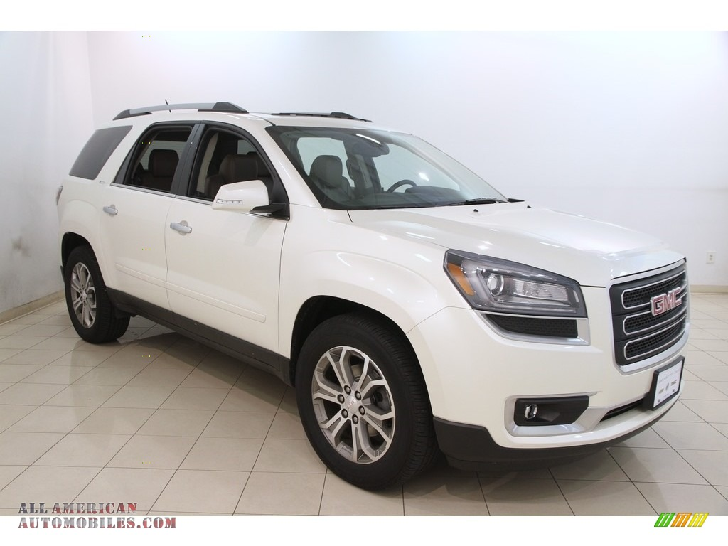 2015 gmc acadia slt awd in white diamond tricoat 133432 all american automobiles buy. Black Bedroom Furniture Sets. Home Design Ideas