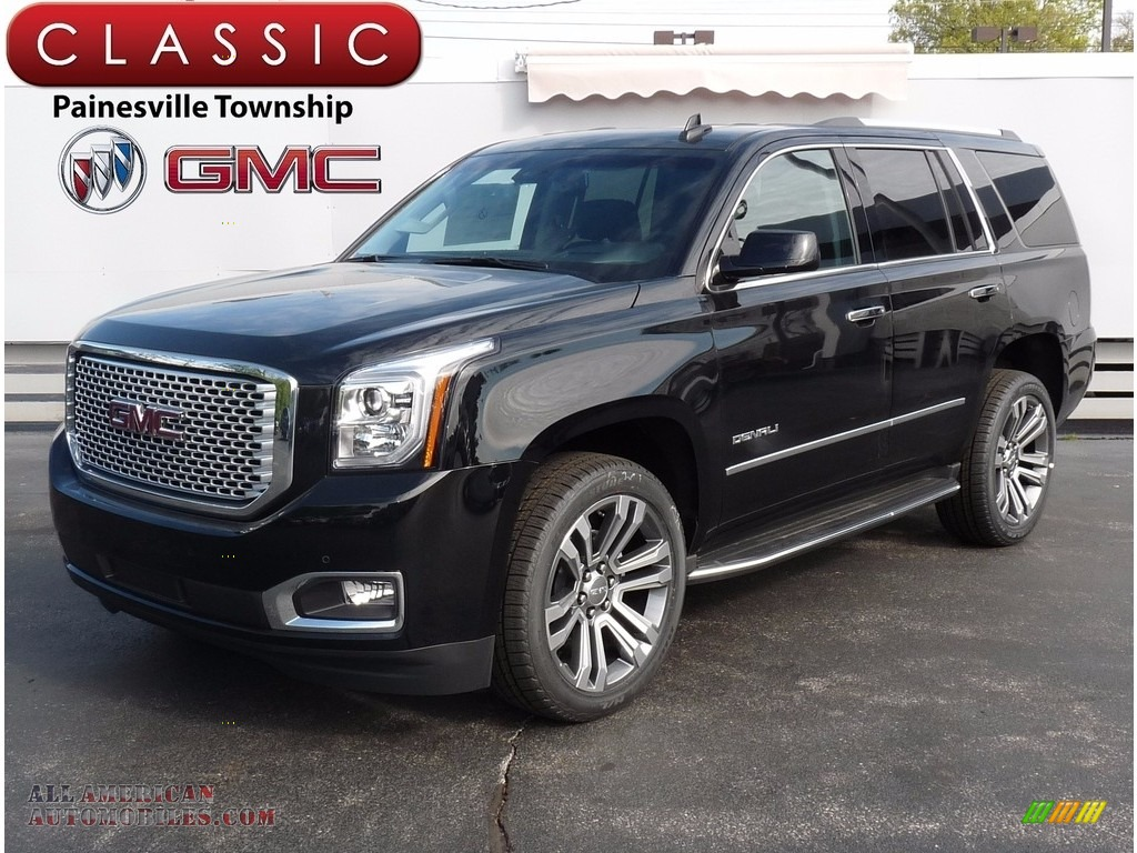 2017 gmc yukon denali 4wd in onyx black 278731 all american automobiles buy american cars. Black Bedroom Furniture Sets. Home Design Ideas