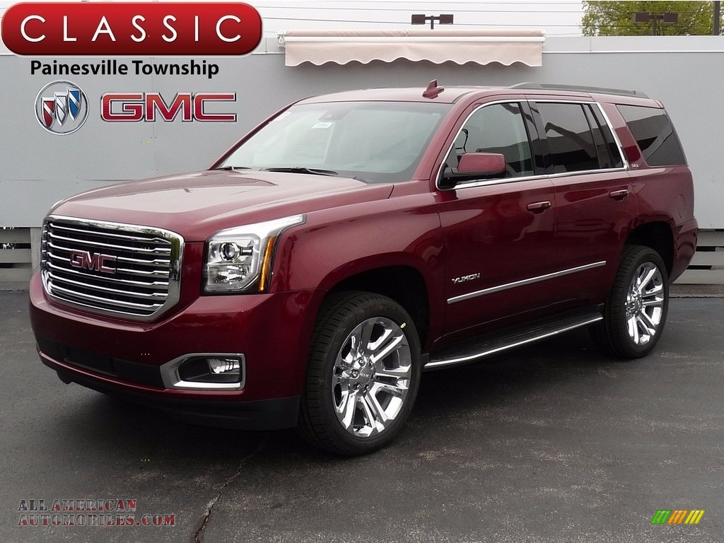 2017 gmc yukon slt 4wd in crimson red tintcoat for sale. Black Bedroom Furniture Sets. Home Design Ideas