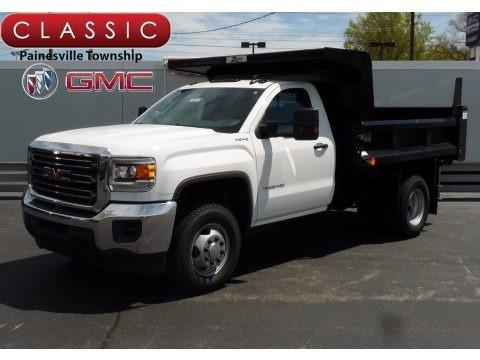 Summit White 2017 GMC Sierra 3500HD Regular Cab 4x4 Dump Truck