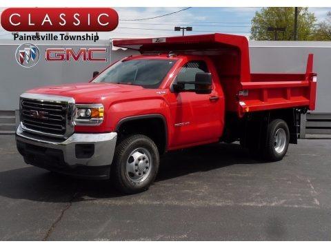 Cardinal Red 2017 GMC Sierra 3500HD Regular Cab 4x4 Dump Truck