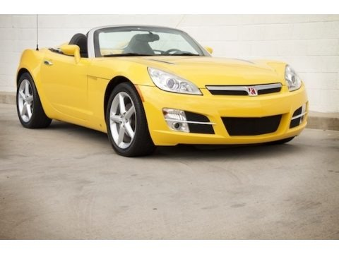 Sunburst Yellow 2007 Saturn Sky Roadster