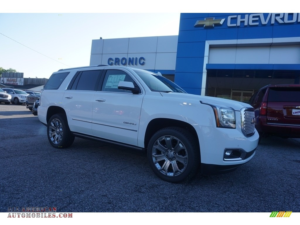 2017 gmc yukon denali in summit white 298438 all american automobiles buy american cars. Black Bedroom Furniture Sets. Home Design Ideas