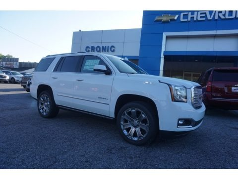 Summit White 2017 GMC Yukon Denali