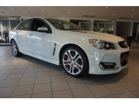 Heron White 2017 Chevrolet SS Sedan