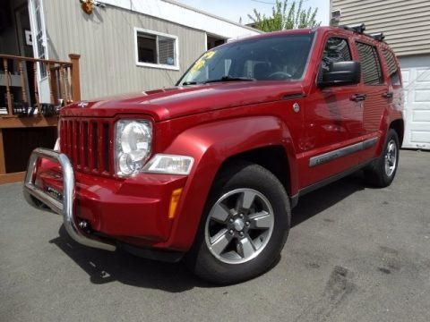 Red Rock Crystal Pearl 2008 Jeep Liberty Sport 4x4