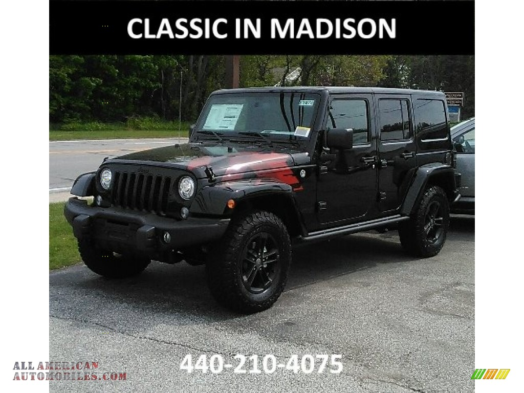 2017 jeep wrangler unlimited winter edition 4x4 in black 651355 all american automobiles. Black Bedroom Furniture Sets. Home Design Ideas