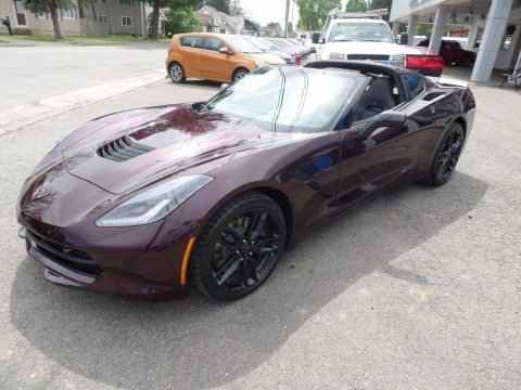 Black Rose Metallic 2017 Chevrolet Corvette Stingray Coupe