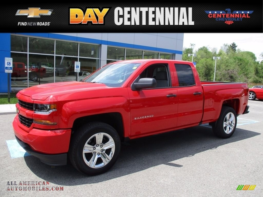 2017 chevrolet silverado 1500 custom double cab 4x4 in red hot 324694 all american. Black Bedroom Furniture Sets. Home Design Ideas