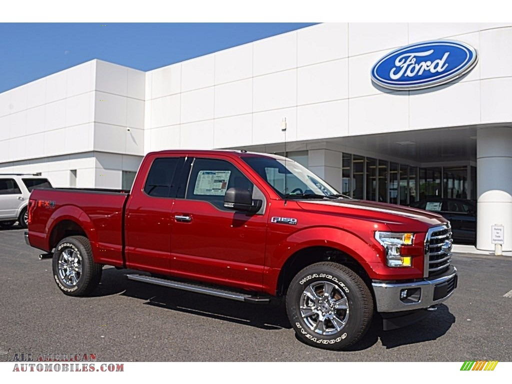 2017 ford f150 xlt supercab 4x4 in ruby red a19938 all american automobiles buy american. Black Bedroom Furniture Sets. Home Design Ideas