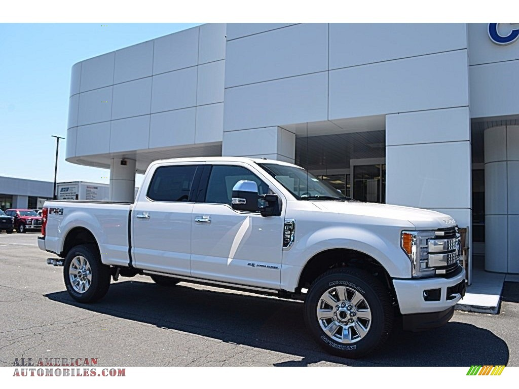 2017 ford f250 super duty platinum crew cab 4x4 in white platinum d39355 all american. Black Bedroom Furniture Sets. Home Design Ideas