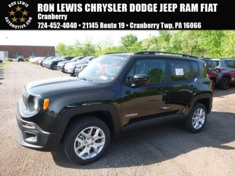 Black 2017 Jeep Renegade Latitude 4x4