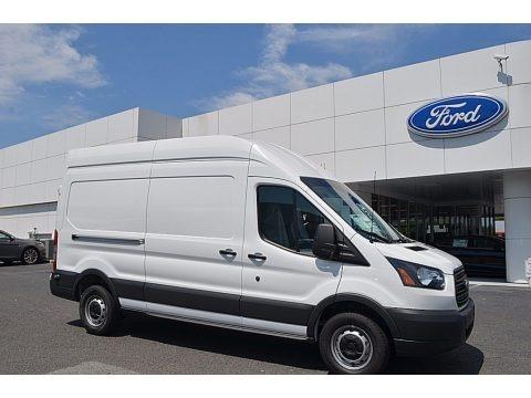 Oxford White 2017 Ford Transit Van 250 HR Long