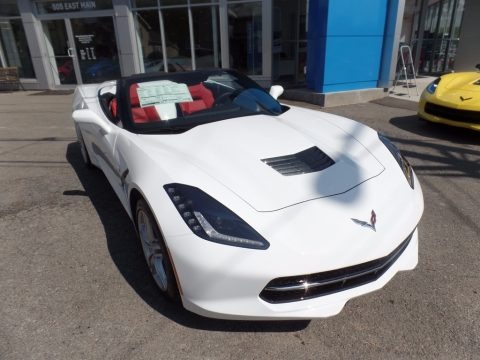 Arctic White 2017 Chevrolet Corvette Stingray Convertible