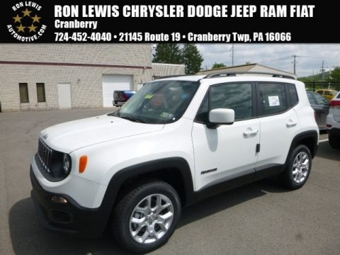 Alpine White 2017 Jeep Renegade Latitude 4x4