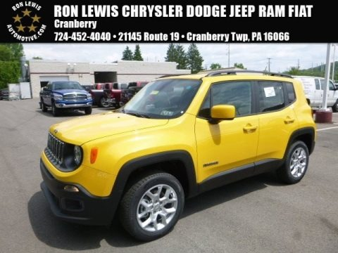Solar Yellow 2017 Jeep Renegade Latitude 4x4