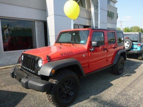 Firecracker Red 2017 Jeep Wrangler Unlimited Sport 4x4