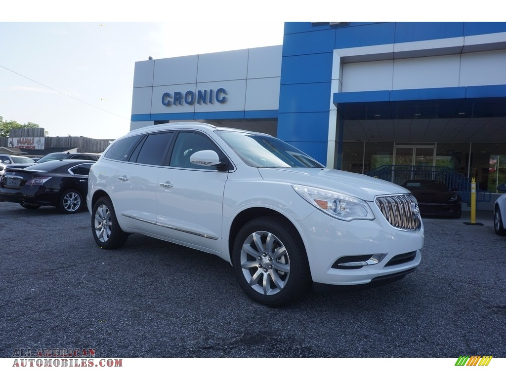2017 buick enclave premium in summit white 327210 all american automobiles buy american. Black Bedroom Furniture Sets. Home Design Ideas
