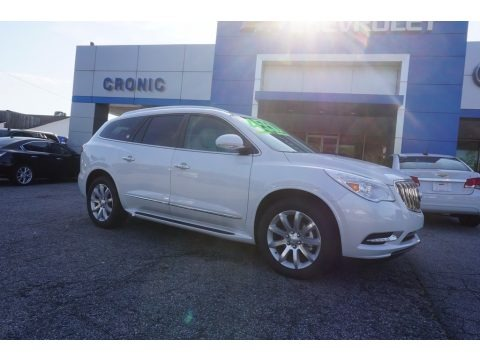 White Frost Tricoat 2017 Buick Enclave Premium