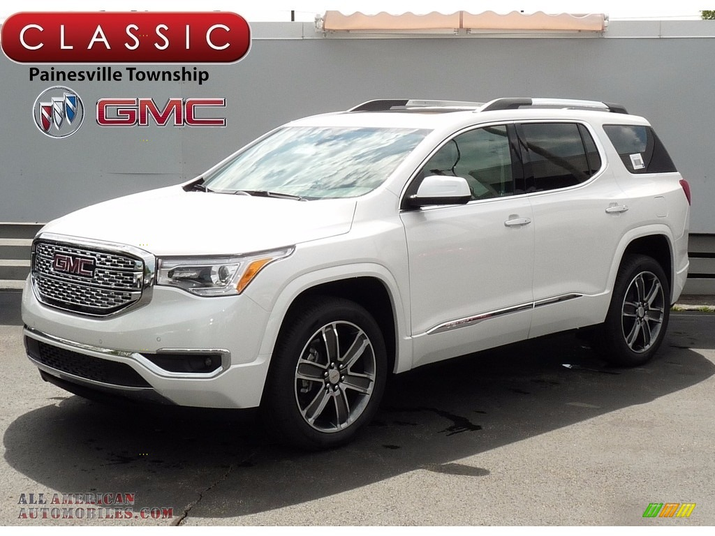2017 gmc acadia denali awd in white frost tricoat 300919 all american automobiles buy. Black Bedroom Furniture Sets. Home Design Ideas