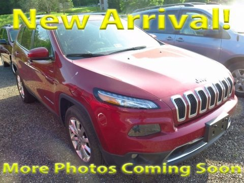Deep Cherry Red Crystal Pearl 2017 Jeep Cherokee Limited 4x4
