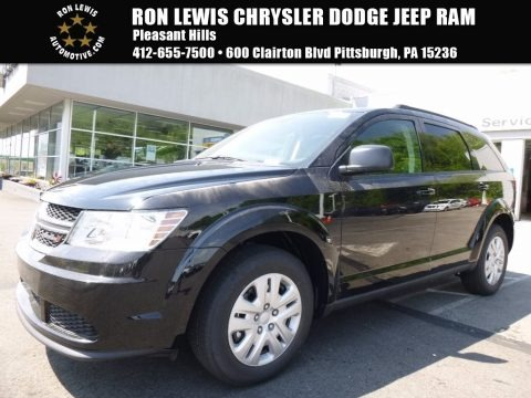 Pitch Black 2017 Dodge Journey SE