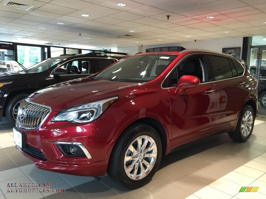 2017 buick envision essence awd in chili red metallic 119574 all american automobiles buy. Black Bedroom Furniture Sets. Home Design Ideas