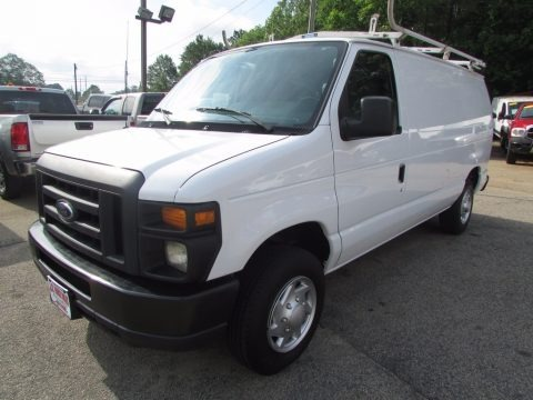 Oxford White 2013 Ford E Series Van E150 Cargo
