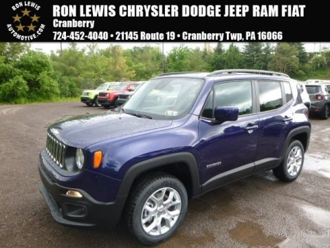 Jetset Blue 2017 Jeep Renegade Latitude 4x4