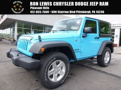Chief Blue 2017 Jeep Wrangler Sport 4x4