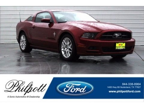 Ruby Red 2014 Ford Mustang V6 Premium Coupe