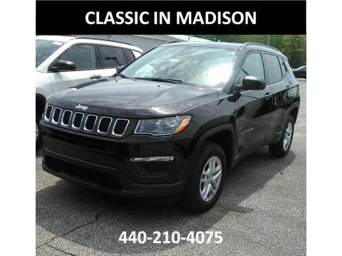 Diamond Black Crystal Pearl 2017 Jeep Compass Sport 4x4